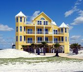 picture of beach-house  - Photographed beach home on the Gulf of Mexico Florida - JPG