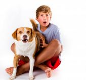 Teen And His Dog