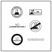 Vector Logos For Products. Icons No Preservatives For Product Packaging. No Preservatives Drawn Isol poster