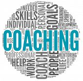 picture of mentoring  - Coaching concept related words in tag cloud isolated on white - JPG