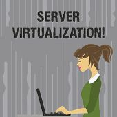 Handwriting Text Writing Server Virtualization. Concept Meaning Allow For More Than One Server To Ru poster