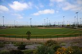 baseball field. baseball stadium. outdoor field for sports.   poster