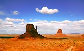 image of grand canyon  - Shadowed Butte Formation in Monument Valley Arizona - JPG