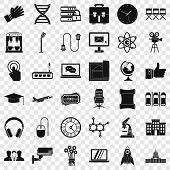 Science Conference Icons Set. Simple Style Of 36 Science Conference Vector Icons For Web For Any Des poster