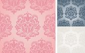 picture of lace-curtain  - Beautiful vector seamless damask pattern - JPG