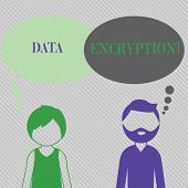 Text Sign Showing Data Encryption. Conceptual Photo Another Form Code That Only Showing With Access  poster