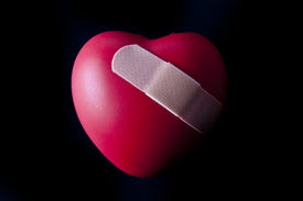 picture of broken heart  - A heart with a bandage across the front - JPG