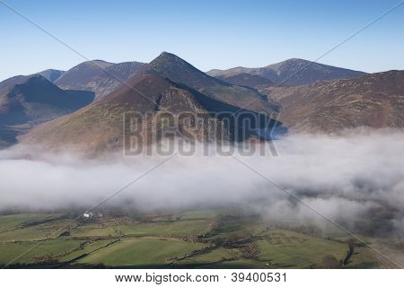 Fog Clearing Over Newlands Valley, Cumbria, UK