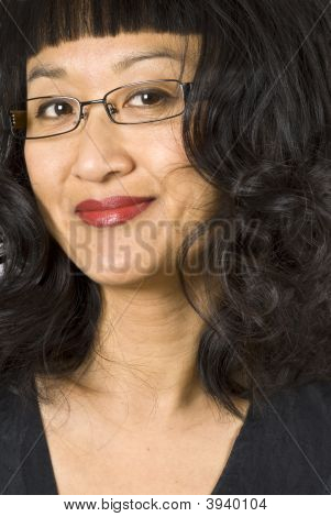 Asian Woman With Curly Hair