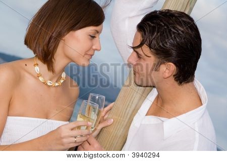 Feliz pareja de enamorados