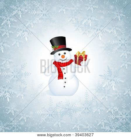 Snowflakes Christmas Background