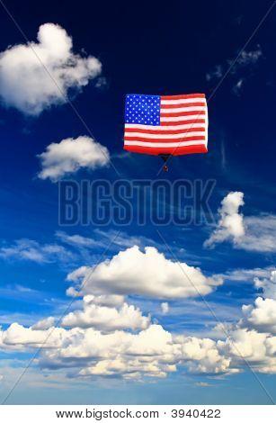 An American Flag Hot-Air Balloon