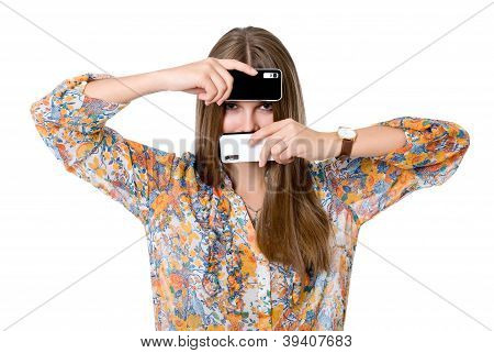 The Girl With Two Mobile Phones