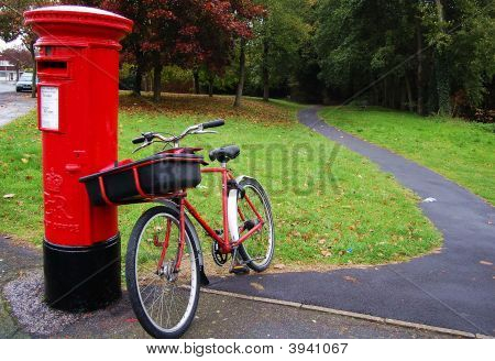 Post Box And Post Bike
