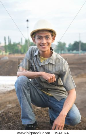 Contractor At Field
