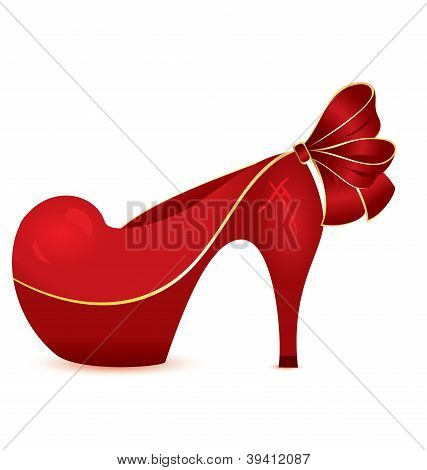 Red Shoe Vector
