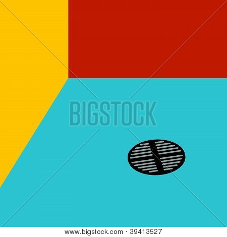 Drain Water Art Vector Illustration