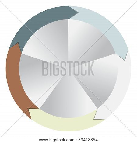 Concept of colorful circular