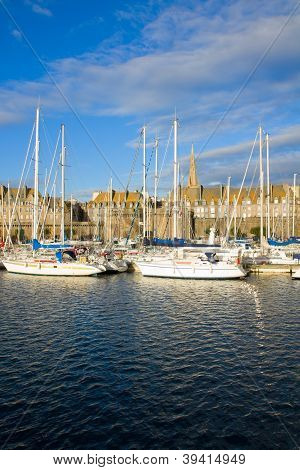 marina of  Saint Malo, France