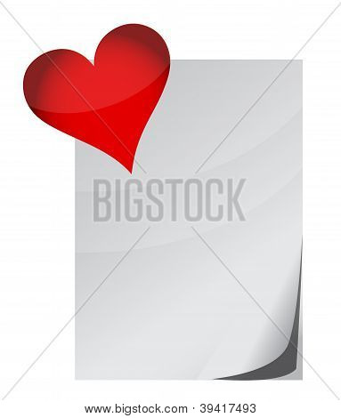 Love Letter And Heart