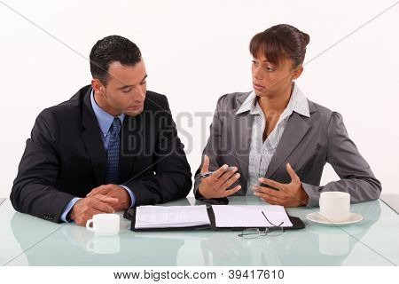 Man and woman in businessmeeting