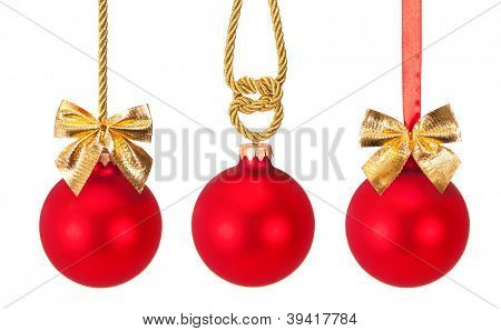 Christmas toys isolated on white background