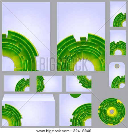 Vector beautiful template for business design folder, business c