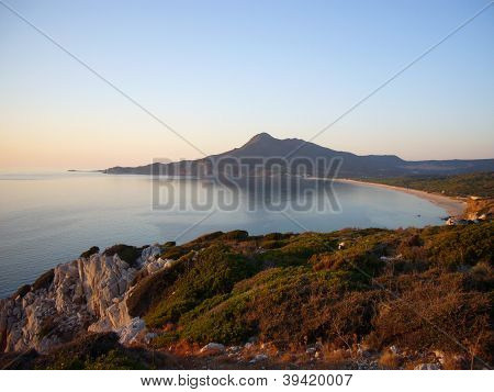 sardinian coast at sunset