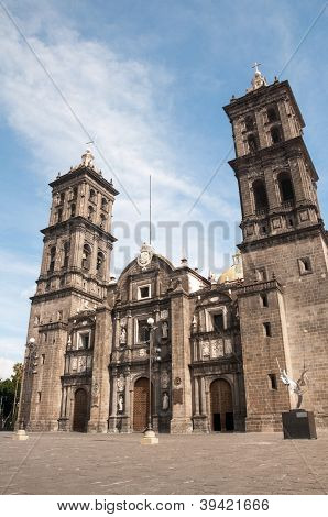 Puebla cathedral, Mexico