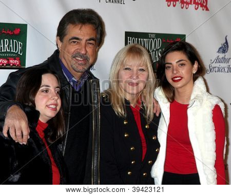 LOS ANGELES - NOV 25:  Joe Mantegna, family arrives at the 2012 Hollywood Christmas Parade at Hollywood & Highland on November 25, 2012 in Los Angeles, CA