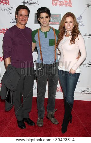 LOS ANGELES - NOV 25:  Christian LeBlanc, Max Ehrich, Tracey Bregman arrives at the 2012 Hollywood Christmas Parade at Hollywood & Highland on November 25, 2012 in Los Angeles, CA