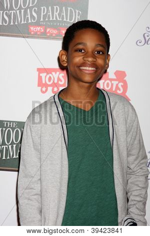 LOS ANGELES - NOV 25:  Tyrel Jackson Williams arrives at the 2012 Hollywood Christmas Parade at Hollywood & Highland on November 25, 2012 in Los Angeles, CA