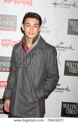 LOS ANGELES - NOV 25:  Ryan Potter arrives at the 2012 Hollywood Christmas Parade at Hollywood & Highland on November 25, 2012 in Los Angeles, CA