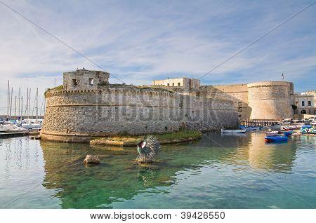Angevine-Aragonese Castle. Gallipoli. Puglia. Italy.