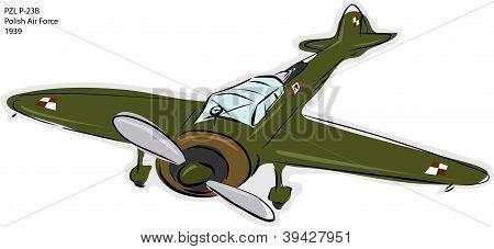 Pzl P-23B Ww2 Combat Plane