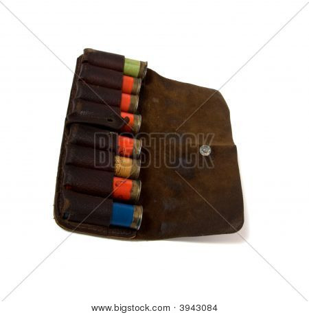 Vintage Ammunition Belt Isolated On White