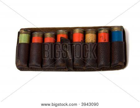 Vintage Ammunition Belt Isolated On White