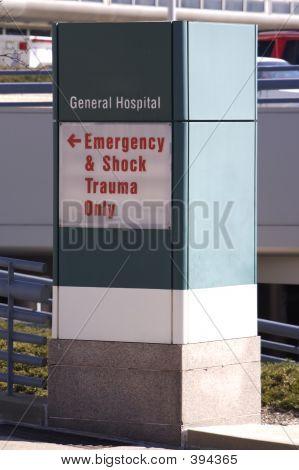 Krankenhaus Zeichen