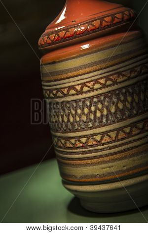 Closeup of a vase