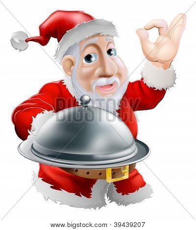 Santa With Food