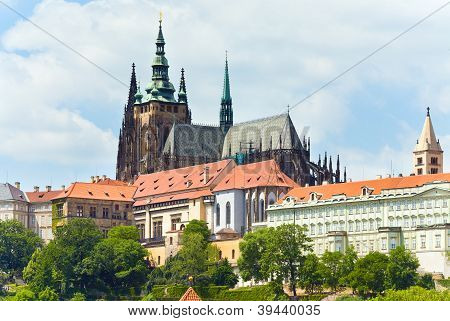 Prague Castle And St Vitus Cathedral (czech Republic)