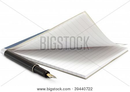 Open notepad and pen