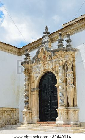 Entrance Of The Baroque Church In Cabra