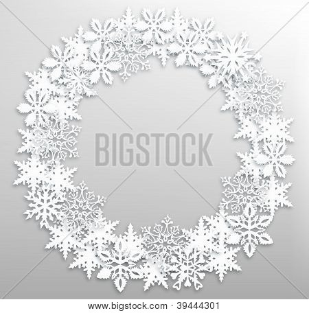 Christmas Snowflakes Wreath