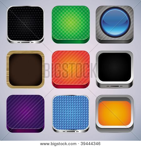 Vector Set With 9 App Icons