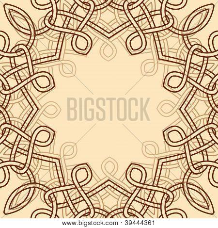 Vector Decorative Frame With Celtic Ornamental Design Element