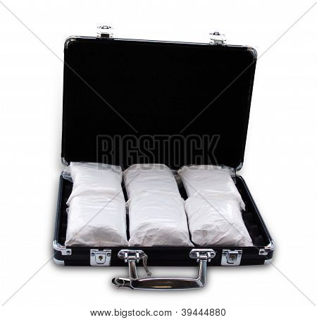 Cocaine In A Suitcase (really It's Powdered Sugar)