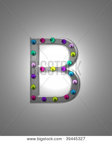 Alphabet Metal Marquee Bb