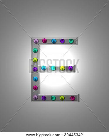Alphabet Metal Marquee Ee