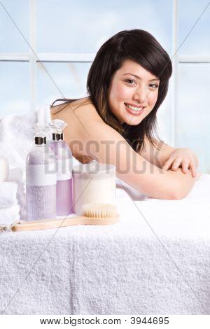 Beautiful Asian Spa Girl